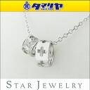 750 Star Jewelry/ star jewelry heart diamond (D0.06ct) necklace K18 WG white gold 2602115