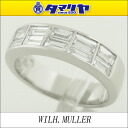WILH.MULLER Dai Wilhelm-ya (1.09ct) ring Japan size 12 Lady's Pt950 platinum ring woman 2559704)