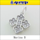 750 MARINA B marina B diamond cross charm K18 WG why toe gold top pendants 2560705