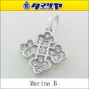 750 MARINA B marina B diamond cross charm K18 WG why toe gold top pendants 2560705