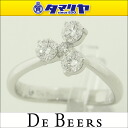 750 De Beers De Beers diamond (0.33ct) corsage ring 3P D-G IF-VS2 Ref.J1CL06Z03W48 K18 WG white gold Japan size approximately eight ring 25831002