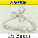 750 De Beers De Beers diamond (0.33ct) corsage ring 3P D-G IF-VS2 Ref.J1CL06Z03W48 K18 WG white gold Japan size approximately eight ring 25831002