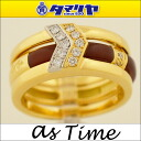 Four as Time as thyme Nobuko Ishikawa diamond ring set K18 YG イエローゴールドカルセドニーメノウオニキス Japan size approximately 15 Lady's ring 2575902