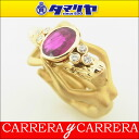 750 Carrera y Carrera boyfriend rye Carrera ruby dialing K18 YG yellow gold Japan size approximately eight ♯ 482649614