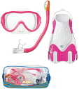 With three points of AQA スノーケリング set silicon M KZ-9210 * silicon material + plastic fin * travel bag [product for women]