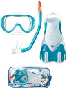 AQA snorkeling 3-piece set light M KZ-9212 * elastomer material + Pravin * with a travel bag for women
