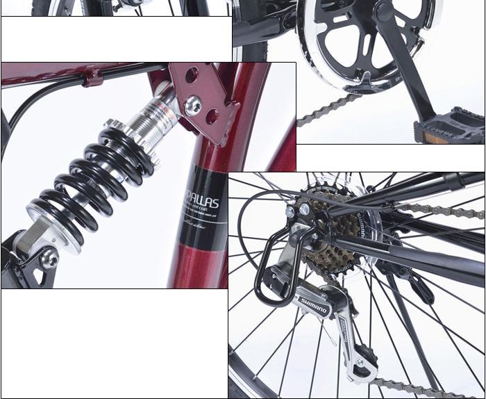 マイパラス クロスバイク26・6SPリアサス M-650typeIII-W 【送料無料】クロスバイク26・6SPリアサス (M650typeIIIW)