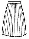 Student winter pleated skirt 40 car folds Big