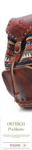麻 コットン 本革 刺繍リュックサック