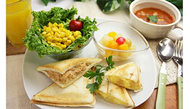 缶詰で作る朝食メニュー