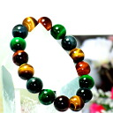 Good luck ★ 4 color Tiger eye 12 mm bracelet natural stone and power stone u-1 fs3gm