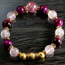 Rose quartz X pink tiger eye (dyeing) bracelet