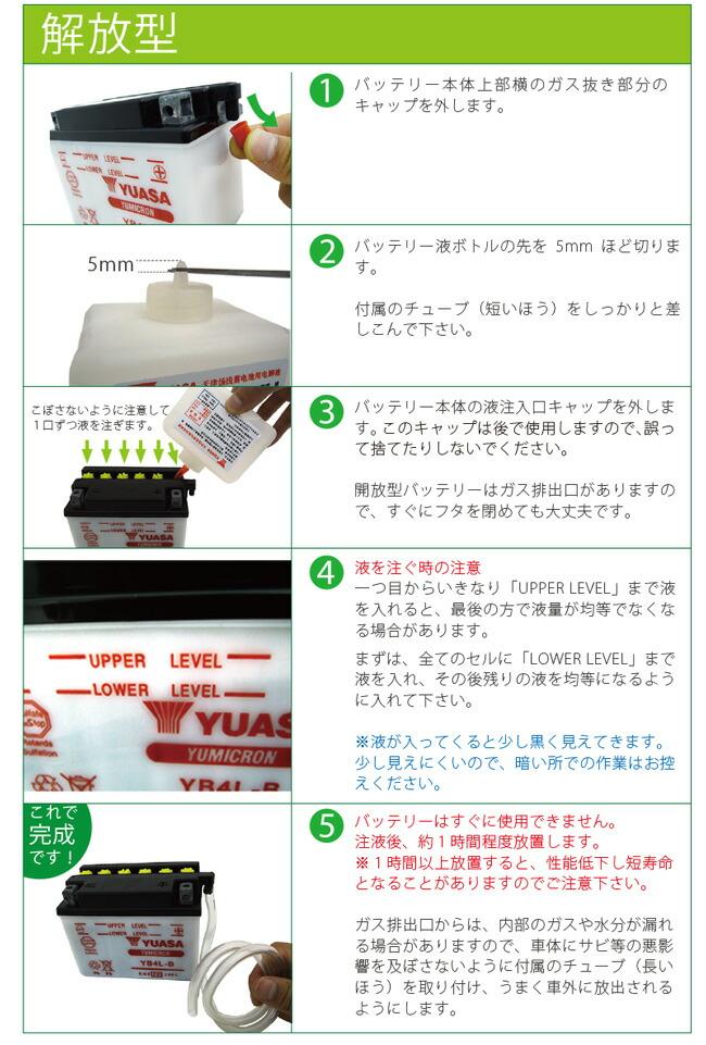 バッテリー液の入れ方説明ページ02