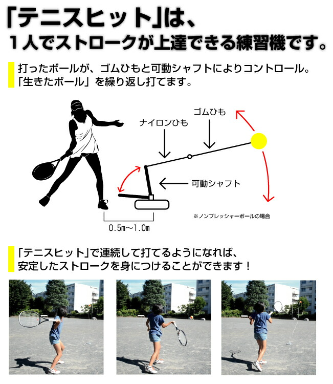新ストローク練習機「テニスヒット」