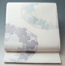 【 新品 芯入れ 仕立て上り 】夏物 袋帯 西陣織 絽 (4) 葡萄の丸紋 正絹 (日本製) ★送料無料