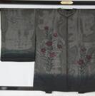 羽織 紗袷 桔梗模様 正絹 ★送料無料