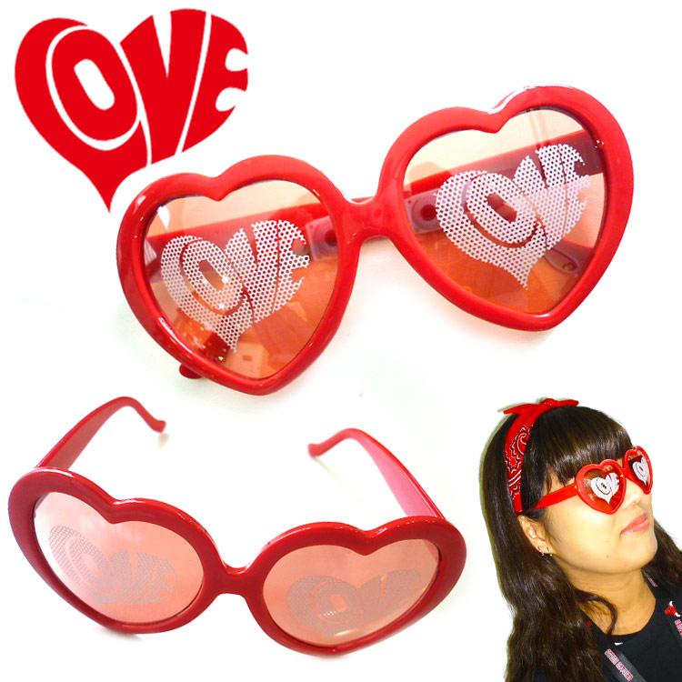 LOVE サングラス ダテメガネ ファッショングラス 眼鏡 サンキューマート/メール便不可//×:サンキューマート WEB SHOP