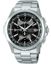 SEIKO SEIKO WIRED wired new standard 1/100 second chronograph men watch black X silver AGAV046