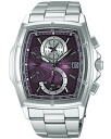 SEIKO Seiko WIRED wired new standard 1 / 100 sec chronograph men's watch-purple / silver AGAV049