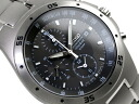 Seiko foreign model men's Chronograph Watch gray dial-black Titan belt SND419P1