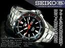 Seiko 5 hand-wound & wound by automatic mens watch black dial silver stainless steel belt SRP155J1