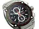 Seiko sportura Honda Racing team Chronograph Watch-Black Dial-x metal belt