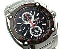 Seiko sportura Honda Racing team Chronograph Watch-Black Dial-x metal belt