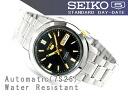 SEIKO 5 men's self-winding watch watch black X gold dial stainless steel belt SNKK17K1