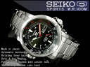 SEIKO 5 men's self-winding watch watch black stainless steel belt SNZJ57J1
