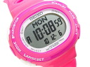 Lady's watch pink SSVD001 for SEIKO Lucia running-style digital running