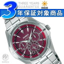 SEIKO wired new standard men watch solar multi-function wine red AGAD034