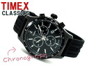 Timex CLASSICS men chronograph watch oar black black dial rubber belt T2N818