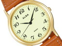 SEIKO ALBA Seiko Alba standard Palmach men's watch light green × brown AIGN001