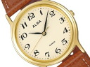 SEIKO ALBA Seiko Alba standard Palmach men's watch light brown / brown AIGN002