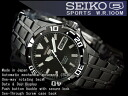 5 SEIKO sports men self-winding watch divers watch oar black black IP black stainless steel belt SNZJ41J1