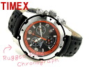 Timex Expedition OUTDOOR men chronograph watch black dial leather belt T49782