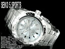 5 SEIKO sports men self-winding watch watch silver dial stainless steel belt SNZJ03K1