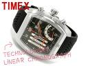 Timex men's ライナークロノ chart watch Silver Dial black rubber belt T3C489