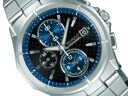 SEIKO Seiko WIRED wired new standard chronograph mens watch black x blue x silver AGAV058