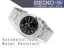 SEIKO 5 men's self-winding watch watch black dial silver combination stainless steel belt SNKL55K1
