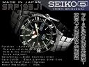 Seiko 5 manual & automatic winding boys size watch-all black stainless steel belt SRP193J1
