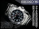 Seiko 5 hand-wound & wound by automatic mens watch black dial stainless steel belt SRP213J1
