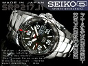 Seiko 5 hand-wound & wound by automatic mens watch black stainless steel belt SRP217J1