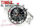 Timex SL men's Chronograph Watch Black stainless steel belt T2M759