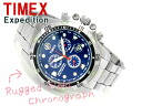 Timex Expedition outdoor men's Chronograph Watch Navy dial stainless steel belt T49799