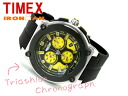 Timex IRONMAN men's Chronograph Watch Black × Yellow Rubber belt T5K350