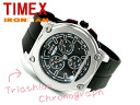 Timex IRONMAN men chronograph watch black rubber belt T5K354
