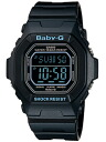 Casio baby G digital watch black blue BG-5600BK-1JF