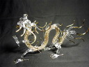 Crystal Dragon (large) total length 23 cm [Feng Shui toy, good-luck toy, good luck figurine: five finger Dragon at the top of Emperor Dragon ☆ handmade: jewel mouth got Golden Crystal dragon figurines, Dragon Zodiac collectibles