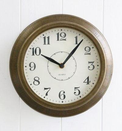 COVENT GARDEN ブラスティー ウォールクロック (銅色) 掛け時計 スタンド 時計 アンティーク調 壁掛け
